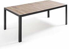 Table de jardin aluminium et céramique