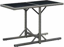 Table de jardin Anthracite 110x53x72 cm Verre et