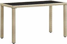 Table de jardin Beige 123x60x74 cm Résine