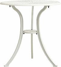 Table de jardin Blanc 62x62x65 cm Aluminium coule