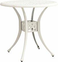 Table de jardin Blanc 78x78x72 cm Aluminium