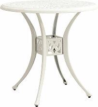 Table de jardin Blanc 78x78x72 cm Aluminium coule