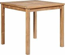 Table de Jardin Bois Solide de Teck 80x80x77 cm