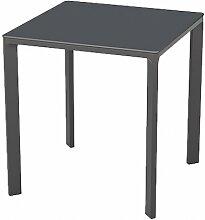 Table de jardin carrée empilable 70 x 70 cm - Meet