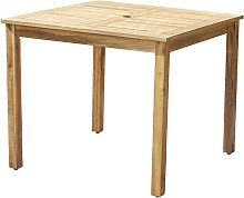 Table de jardin carrée en acacia 4 personnes