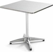 Table de jardin carrée en aluminium 4 places