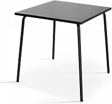 Table de jardin carrée en métal 70cm acier