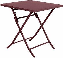 Table de jardin carrée Greensboro 70 x 70 cm