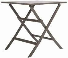 Table de jardin carrée pliable en aluminium