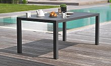 Table de jardin en aluminium anthracite 160x90 cm