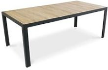 Table de jardin en aluminium et céramique effet
