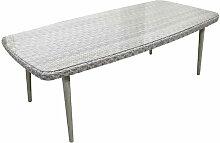 Table de jardin en aluminium/résine synthétique