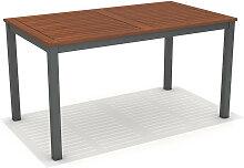 Table de jardin en bois et aluminium Naples