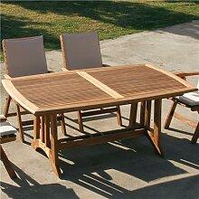 Table de jardin en bois extensible BEGONIA