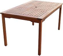 Table de jardin en bois Naples Chillvert