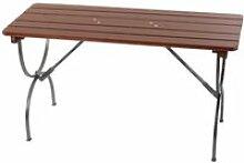 Table de jardin en bois pliable 150x60x81cm