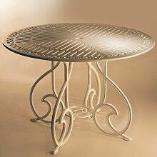 Table de jardin en métal GAUDI 90 ronde aluminium