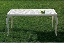 Table de jardin en métal KENYA 120 aluminium