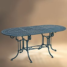 Table de jardin en métal TEIDE 180 ovale