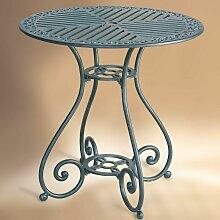 Table de jardin en métal VELADOR ronde aluminium