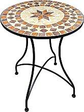Table de Jardin en mosaïque Table de Balcon Table