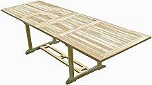 Table de jardin en teck BATAN 10/12 places