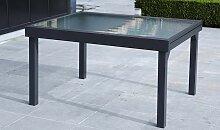 TABLE DE JARDIN EXTENSIBLE 6/10 COUVERTS GRIS
