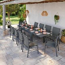 Table de jardin extensible aluminium 135/270cm +