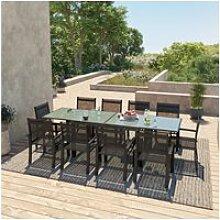 Table de jardin extensible aluminium 140/280cm +