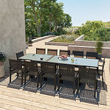 Table de jardin extensible aluminium 200/320cm +