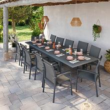 Table de jardin extensible aluminium 220/320cm +