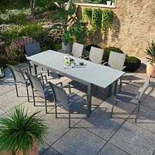 Table de jardin extensible aluminium anthracite