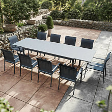 Table de jardin extensible aluminium anthracite
