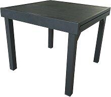 Table de jardin extensible en aluminium gris 4/8