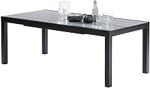 TABLE DE JARDIN EXTENSIBLE NOIR & GRIS 8/12 PLACES