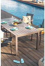 Table de jardin extensible rectangulaire en