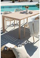 Table de jardin extensible rectangulaire en