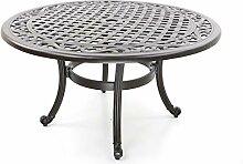 Table de jardin, fonte d'aluminium, rond, Ø