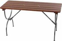 Table de jardin linz, bois massif, pliable,