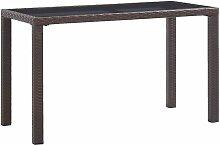 Table de jardin Marron 123x60x74 cm Résine