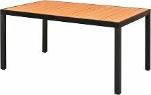 Table de jardin Marron 150 x 90 x 74 cm Aluminium