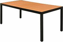 Table de jardin Marron 185 x 90 x 74 cm Aluminium