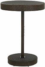 Table de jardin Marron 75,5x106 cm Résine