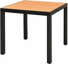Table de jardin Marron 80 x 80 x 74 cm Aluminium