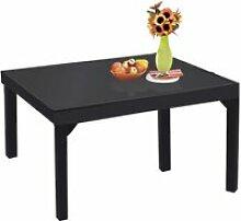 Table de jardin modulo noir 6 à 10 personnes en