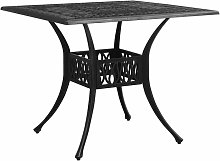 Table de jardin Noir 90x90x73 cm Aluminium coule