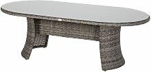 Table de jardin ovale résine tressée Moorea - 8