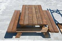 Table de jardin & pique-nique - 2m - 4/6 personnes