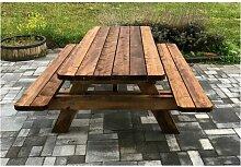 Table de jardin & pique-nique - 2m - Durable et