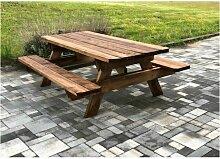 Table de jardin & pique-nique - 3m - 8-10
